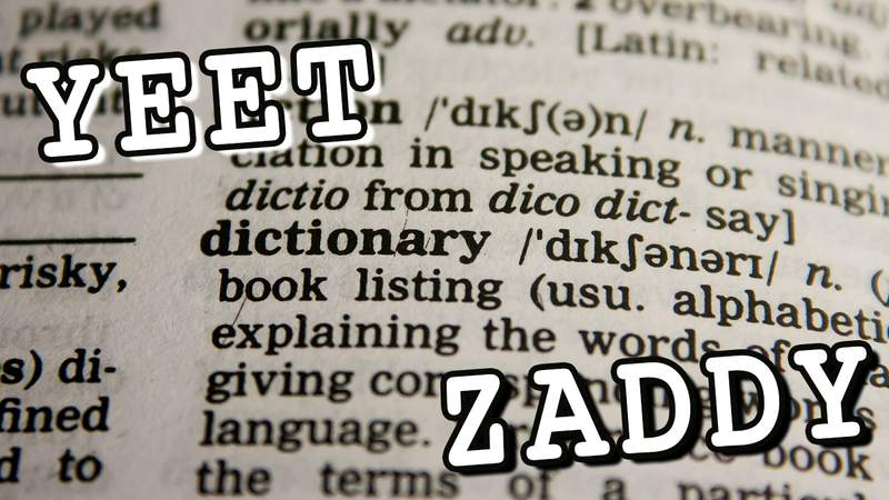 New slang words being added to the dictionary