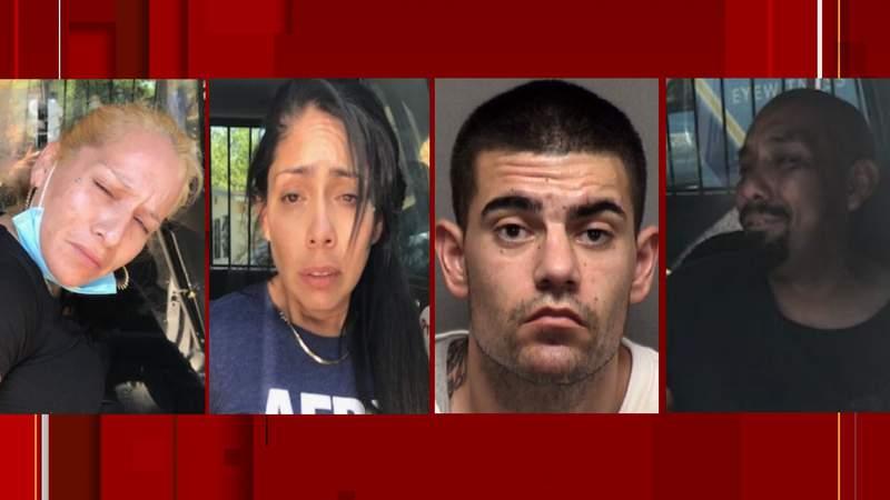 Pictured is (left to right): Jeanette Gloria, 38; Crystal Coronado, 34; Kenneth Peterson, 28; Josh Delgado, 38.
