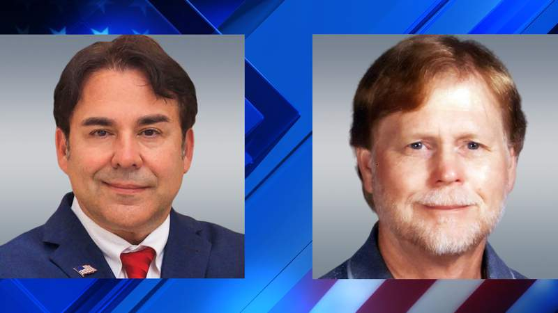 Mauro Garza and Gary Allen, candidates for U.S. Representative District 20 (Republican), in the July runoff election.