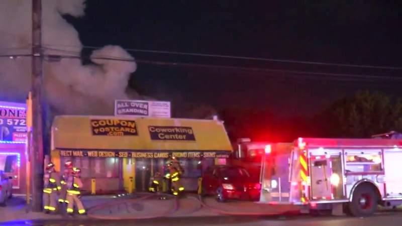 SAFD: Fire destroys business building on North Side