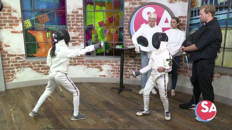 Olympic Fencing Club teaches Mike and Fiona the fencing basics.