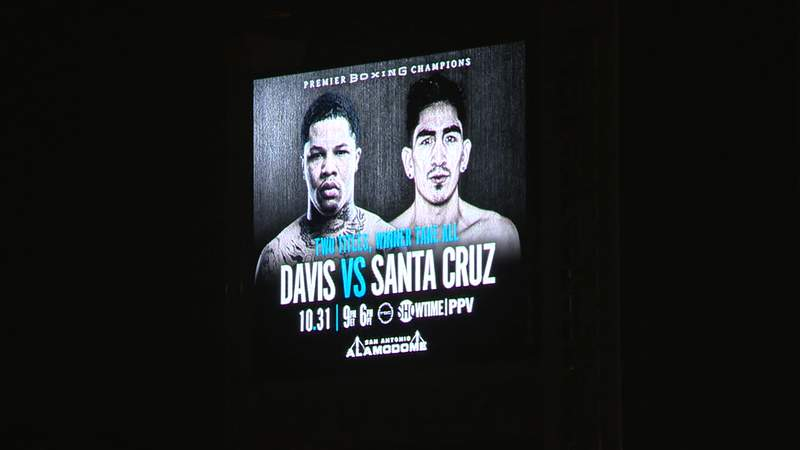 Alamodome marquee set for Showtime Boxing on Halloween night.