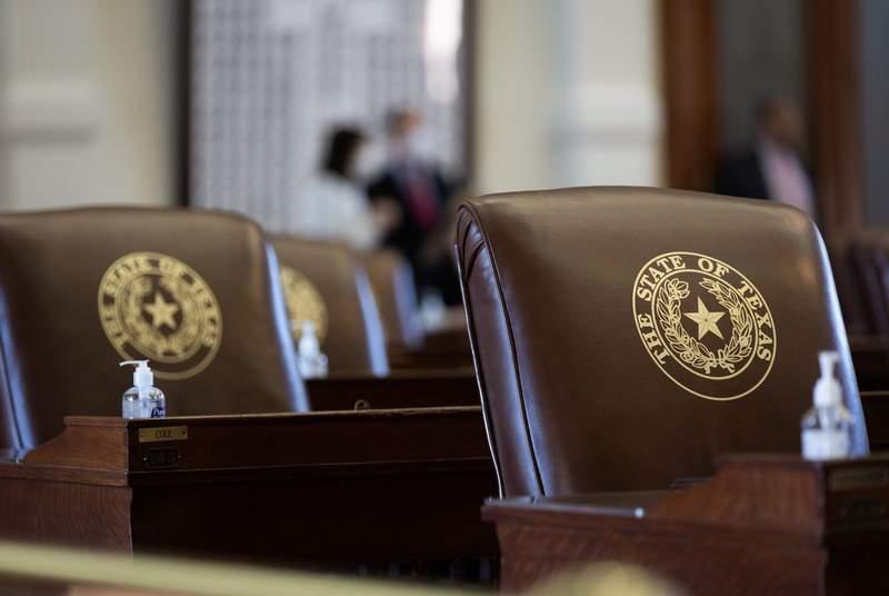 Chairs on the Texas House floor on Aug. 31, 2021.