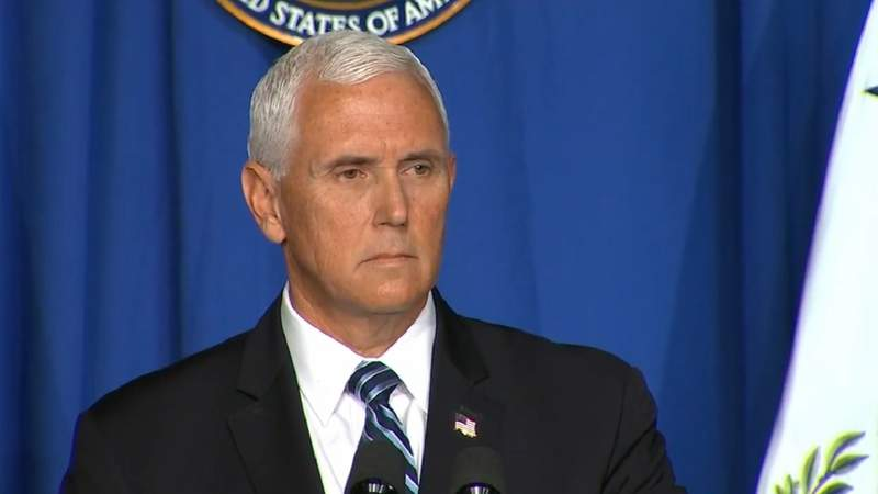 Vice President Mike Pence speaks at July 8, 2020, Coronavirus Task Force press conference.