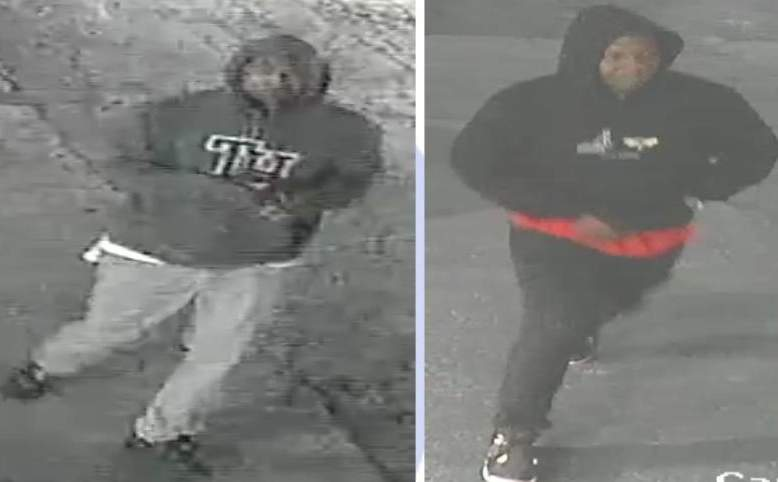 Image given by police of 2 men sought in a robbery of a 73-year-old man.