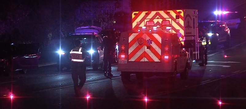 San Antonio homicide investigators are working to solve the murder of a man found in a bullet-riddled car in the middle of a Northeast Side street.