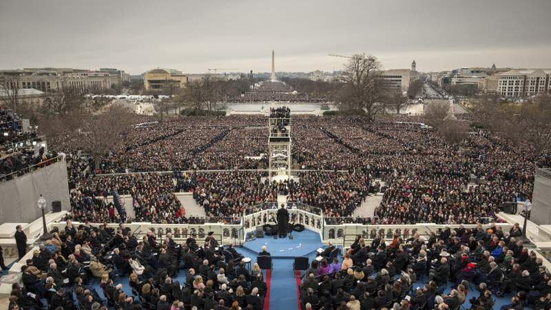 U.S. President Barack Obama is inaugurated for a second term as President on the West Front of the U.S. Capitol January 21, 2013 in Washington, DC. (Photo by Charles Ommanney/Reportage)