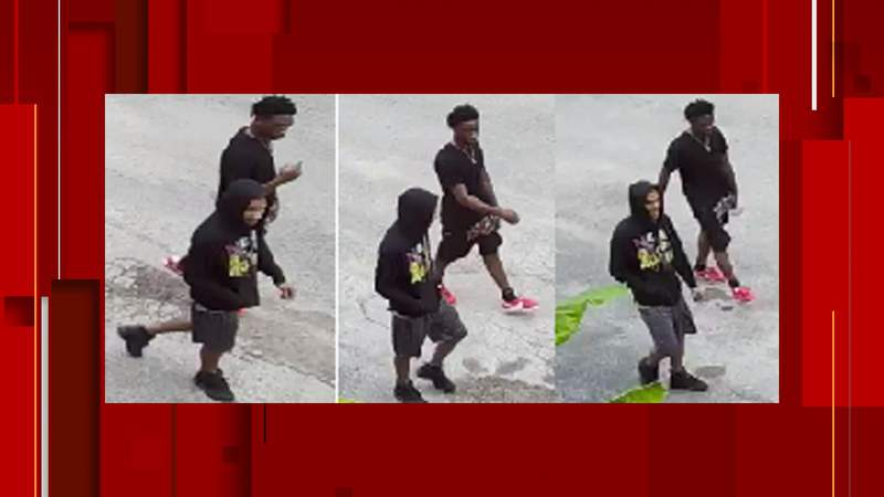 SAPD says these two suspects are wanted for an aggravated robbery that occurred at an apartment complex July 12.