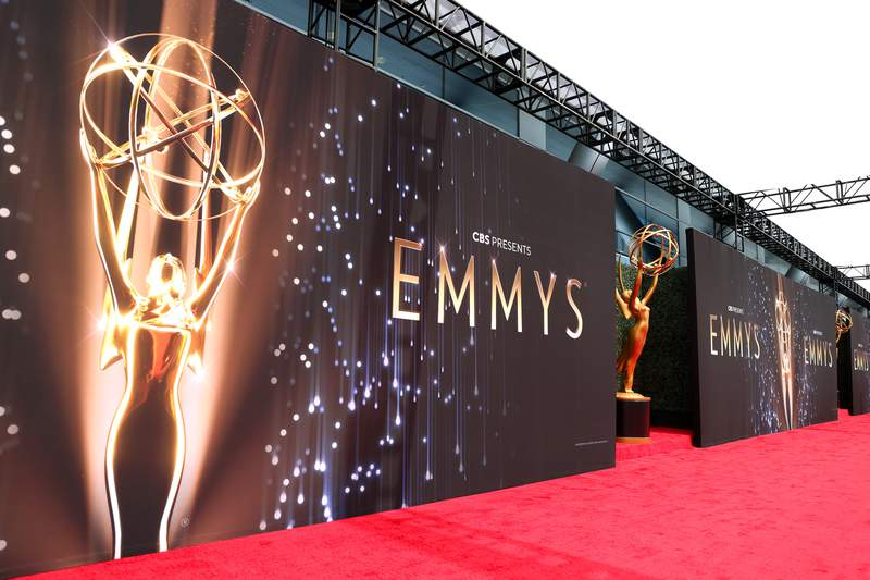 View of the atmosphere during the 73rd Primetime Emmy Awards at L.A. LIVE on September 19, 2021 in Los Angeles, California. (Photo by Rich Fury/Getty Images)