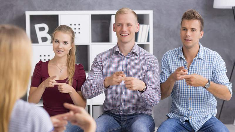 Work towards fluency in American Sign Language with this training.