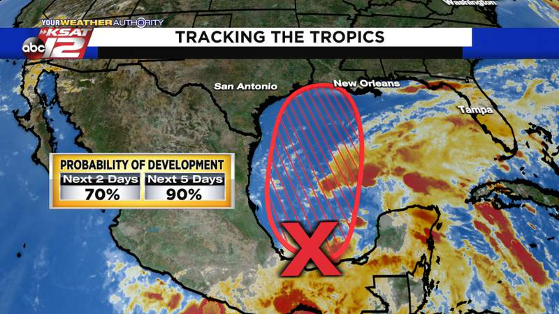 The system is likely to become a tropical depression within the next few days
