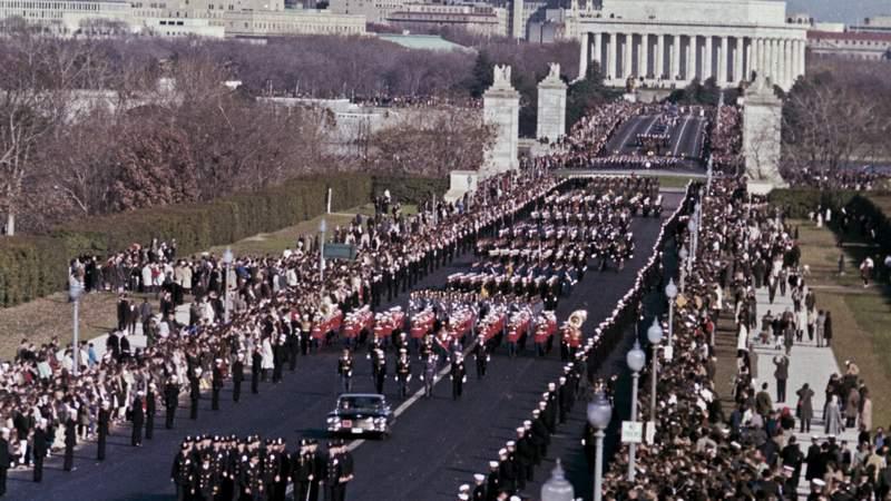Scenes from John F. Kennedy's funeral in Washington, D.C. on Nov. 25, 1963.