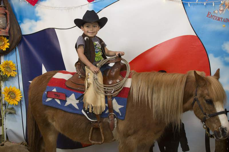 Pony ride at the San Antonio Stock Show and Rodeo
