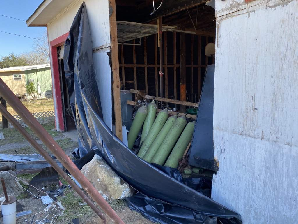 Ata-Bexar County Line Fire Department was damaged after a car crashed into it overnight, BCSO says.