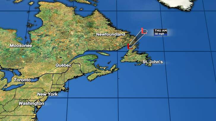 Tropics Forecast Cone at 9:43 Wednesday Evening, September 23rd