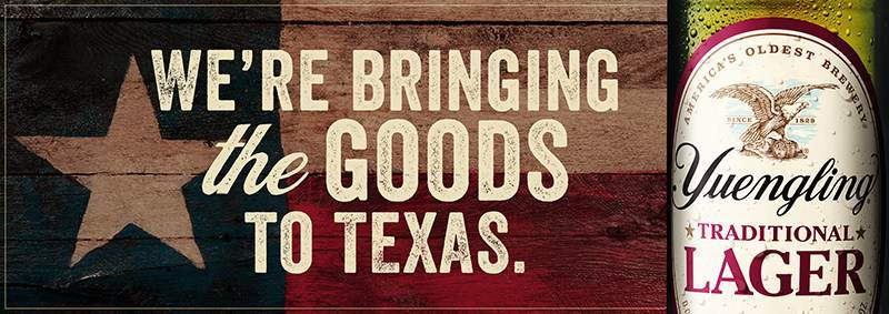 Yuengling's beers will be brewed locally by Texans starting in 2021.