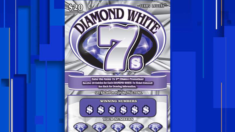 Game No. 2304 in the Texas Lottery - Diamond White 7s.