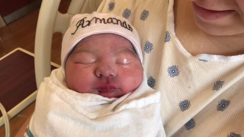 Baby Amanda arrives at St. Luke's Baptist Hospital