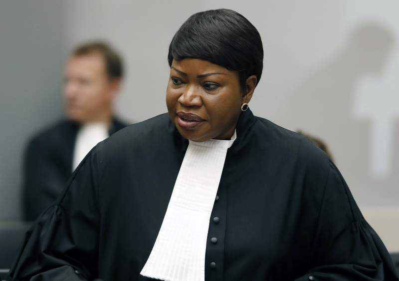 FILE - In this Tuesday Aug. 28, 2018 file photo, Prosecutor Fatou Bensouda at the International Criminal Court (ICC) in The Hague, Netherlands. The International Criminal Court's prosecutor Fatou Bensouda said Friday Dec. 11, 2020, that a preliminary probe found that that there is a reasonable basis at this time to believe that crimes against humanity and war crimes have been committed in Ukraine meriting a full-scale investigation.  (Bas Czerwinski/Pool file via AP, File)