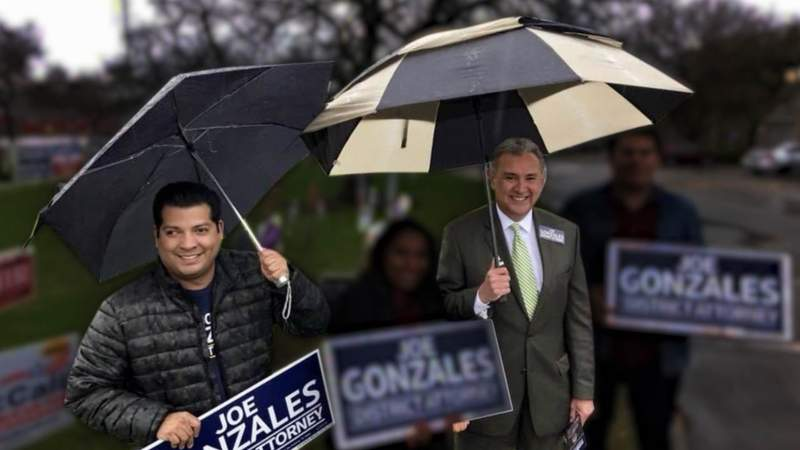 Robert Vargas (left) served as a political consultant for Joe Gonzales (right) until April 2018, prior to Gonzales' election as district attorney.