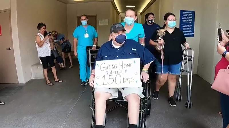 San Antonio man returns home after spending 150 days in the hospital with COVID-19