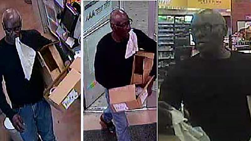A man is wanted in connection with an armed robbery at a Circle K at 438 South W.W. White Road.