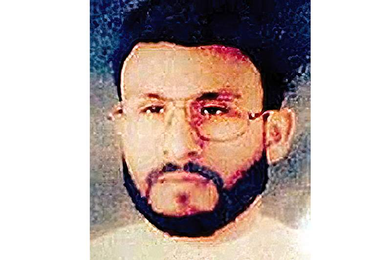 FILE - This undated file photo provided by U.S. Central Command, shows Abu Zubaydah, date and location unknown. The Supreme Court is hearing arguments about the government's ability to keep what it says are state secrets from a man tortured by the CIA following 9/11 and now held at the Guantanamo Bay detention center. At the center of the case being heard Wednesday is whether Abu Zubaydah can get information related to his detention. (U.S. Central Command via AP, File)