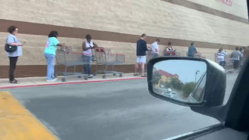 Officials blame unnecessary panic for long lines, empty shelves
