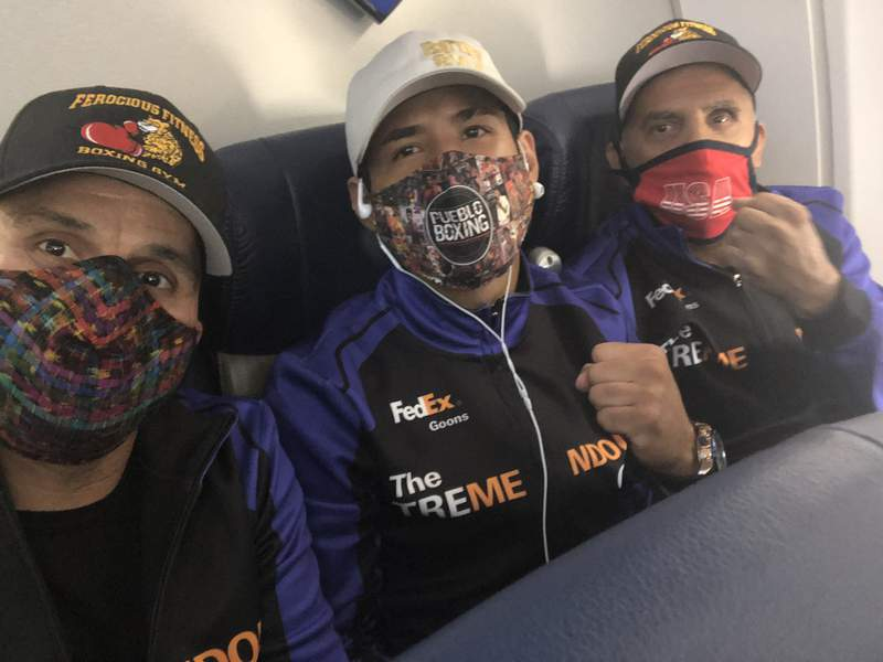Kendo Castaneda and his team depart for Las Vegas on July 5, 2020 for his first fight since the coronavirus outbreak.