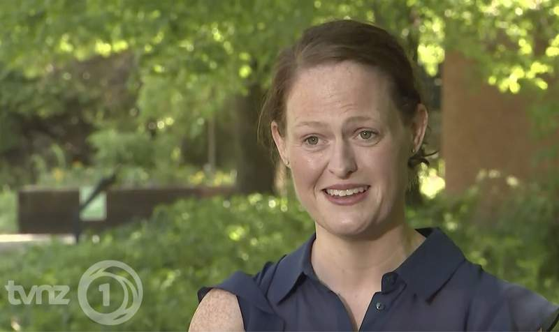 In an image made from video taken on April 22, 2020, New Zealand nurse Jenny McGee speaks about her efforts to help save coronavirus patient British Prime Minister Boris Johnson during an interview in London. McGee was one of two National Health Service nurses who were singled out for praise by the British Prime Minister after he was discharged from St. Thomas Hospital in London earlier this month. Johnson, 55, was the first world leader confirmed to have the virus. (TVNZ via AP)