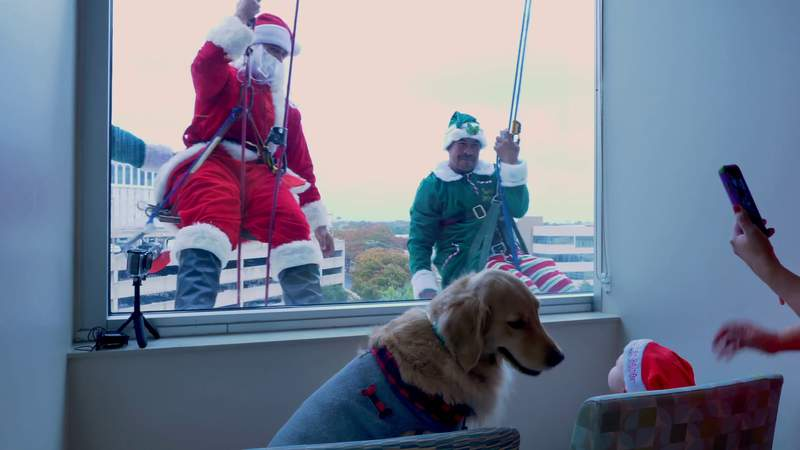 Santa and his elves spread holiday cheer at Methodist Children's Hospital
