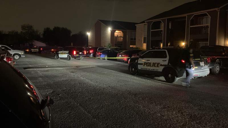 The shooting happened Friday evening at an apartment in the 1100 block of Callaghan Road.