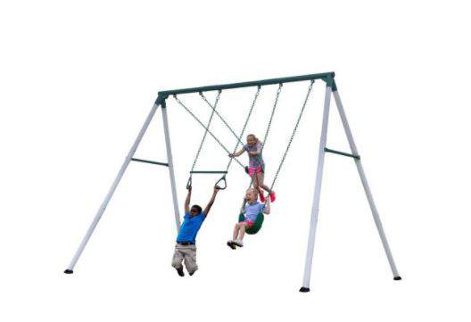 Backyard Discovery Big Brutus, Little Brutus and Mini Brutus metal A-frame swing sets