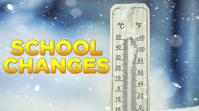 School Districts announce changes ahead of expected wintry weather