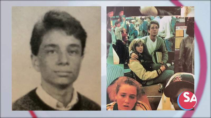 SNL's Chris Kattan in yearbook photos. Which SA Live cast member went to school with him?