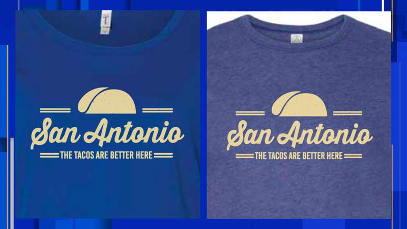"""$10 from every """"Tacos are Better Here"""" shirt purchased will go to the San Antonio Food Bank. The shirts are being sold by SA Flavor."""