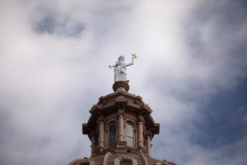 The state Capitol on Jan. 12, 2021. (Credit: Miguel Gutierrez Jr./The Texas Tribune)