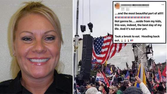 Bexar County Sheriff's Office Lt. Roxanne Mathai, (left), posted images from the deadly siege on the U.S. Capitol on Wednesday, Jan. 6, 2021. She posted images on social media throughout the day.
