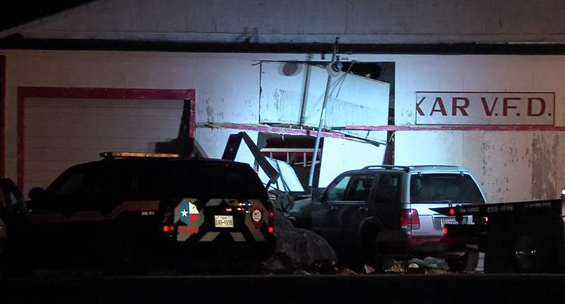 A woman is recovering in the hospital after Bexar County deputies said she fell asleep at the wheel and crashed into a fire station overnight.