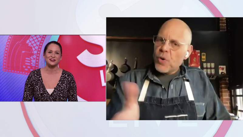 Celebrity chef Alton Brown dishes to Fiona about breakfast salad, eating in a pandemic, new YouTube show.