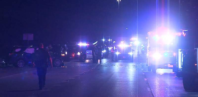 One driver is dead and three others are hospitalized following an overnight head-on crash on I-37, according to San Antonio police.