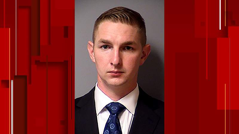 In this Thursday, March 11, 2021, photo provided by the Austin (Texas) Police Department is Christopher Taylor. Taylor, an Austin police officer charged with murder in the fatal shooting last year of an unarmed Austin man was booked into jail and released on bond Thursday, March 11, 2021. An arrest warrant was issued Wednesday for Taylor in the death of Michael Ramos. (Austin Police Department via AP)