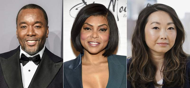 This combination of photos shows, director Lee Daniels, from left, actress Taraji P. Henson and filmmaker Lulu Wang, who are among the talent participating in a series of virtual panels about inclusion and equity in Hollywood hosted by the Academy of Motion Picture Arts and Sciences. The organization that puts on the Oscars said Thursday that the panels rolling out through September and October will be available to the public. (AP Photo)