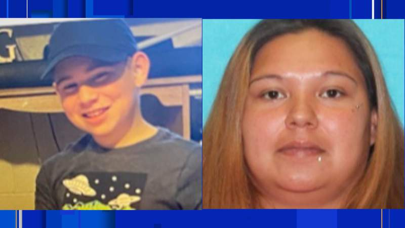 An Amber Alert has been issued for Aaron McBeth, 12 (left). He was last seen at 5 a.m. Friday, April 9, 2021, in the 400 block of Village Drive in Gonzales. Police are also searching for 32-year-old Sylvia Garcia (right) in connection with his disappearance.