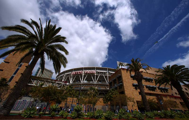 SAN DIEGO, CA- APRIL 9:  A general view of the exterior of Petco Park in San Diego, California. (Photo by Donald Miralle/Getty Images)