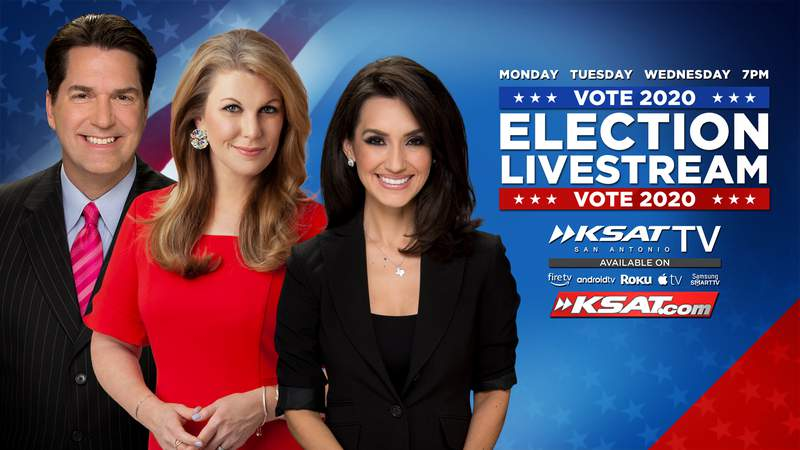 Watch KSAT's election livestream series at 7pm on Monday, Tuesday and Wednesday of election week.