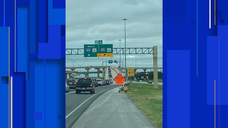 A new flyover ramp at Highway 151 and Loop 410 opened to traffic on Sept. 15. Courtesy: TxDOT
