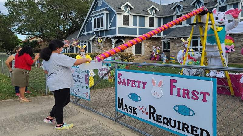 South Side couple creates candy chute for holidays and now Fiesta.