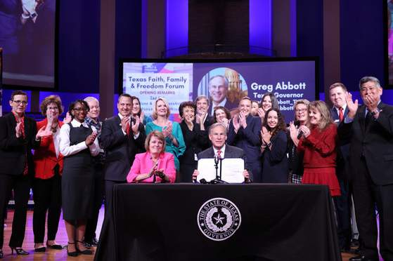 Gov. Greg Abbott on Friday signed Senate Bill 4 into law, which bans mail-order abortion drugs and prevents physicians from providing abortion drugs to women who are more than seven weeks pregnant. Courtesy: Office of the Governor