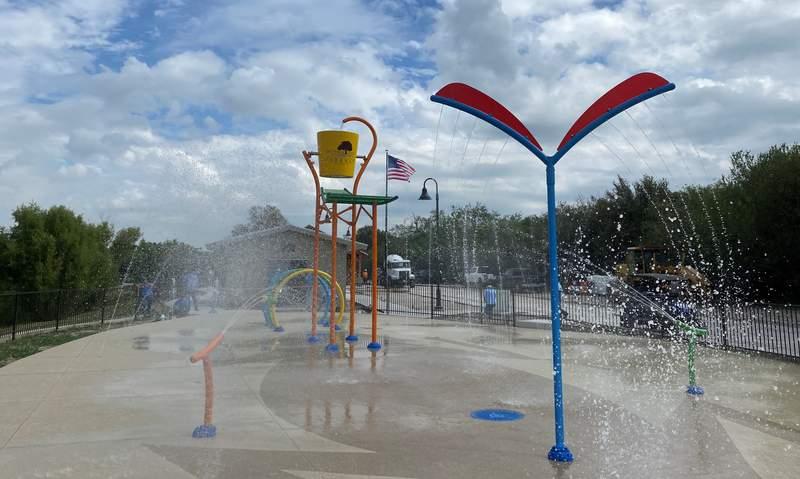 Free splash pad at Escondido Creek Parkway in Kenedy, Texas.